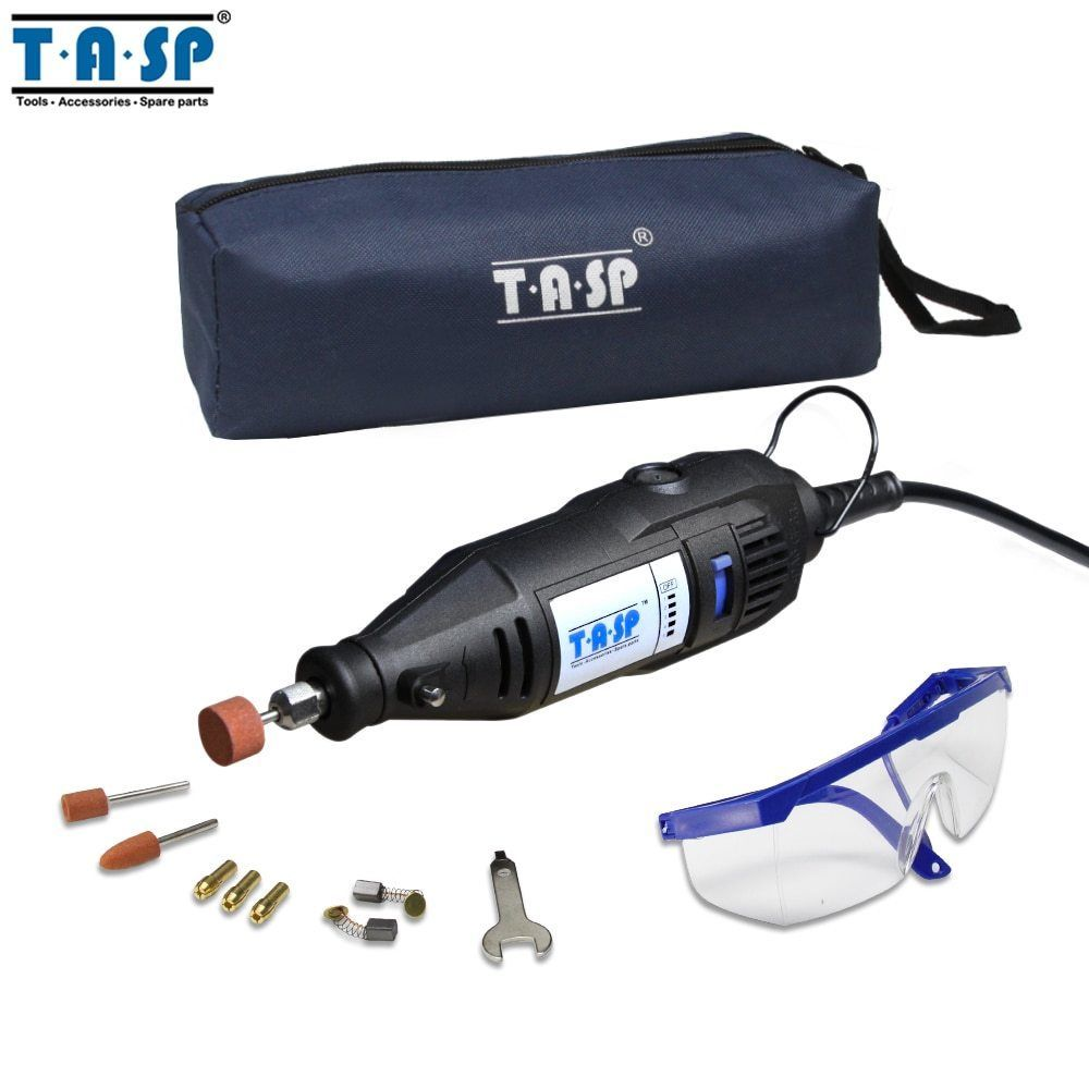 Primary image for TASP® 220V 130W Electric Mini Drill Grinder Rotary Engraver Tool Set With Safety