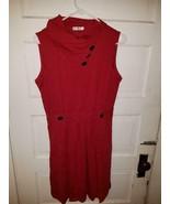 NWOT Huhot red sleeveless flared dress womens large - $39.99