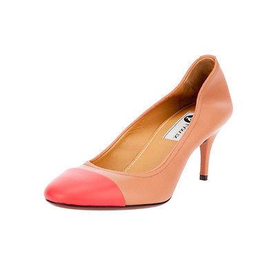 Lanvin Beige Captoe Talon Ballerina Heel Pump 39.5