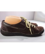 Naturalizer Womens Lace Up Oxford Shoes Brown Nubuck Leather Size 9 M - $39.95