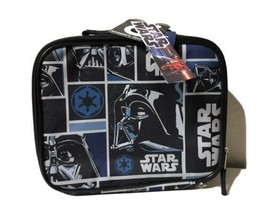Disney Star Wars by THERMOS Black/Blue Kids Lunch Bag New with tags - $11.39