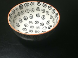 "Interesting Signature Stoneware 6"" X 3"" Bowl - $12.38"