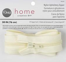 Dritz Home 44235 Nylon Upholstery Zipper, 30-Inch, Cream - $5.29