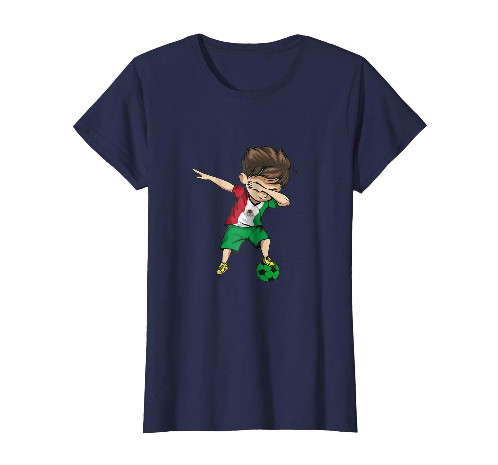 New Shirts - Dabbing Soccer Boy Mexico T-Shirt - Mexican Football Wowen