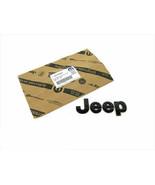 14-17 JEEP WRANGLER FRONT GRILLE GLOSSY BLACK JEEP EMBLEM NAMEPLATE BADGE MOPAR - $52.99