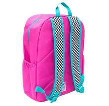 "NEW Yoobi 17"" Checker Color Block Multi-Color Backpack image 4"