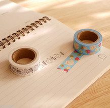 Molang Fabric Masking Tape 2EA Sticky Paper Cute Adhesive Tape Scrapbook... - £7.12 GBP
