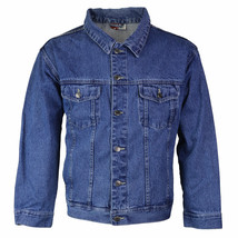 Star Jean Men's Classic Premium Button Up Cotton Denim Jean Jacket Blue image 1