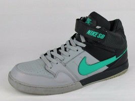Nike SB zoom air men's gray black skateboarding leather sneakers size 11.5 - $38.89