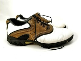 Footjoy Contour Series Golf Shoes Mens 8.5 M White/Brown/Black - $18.37