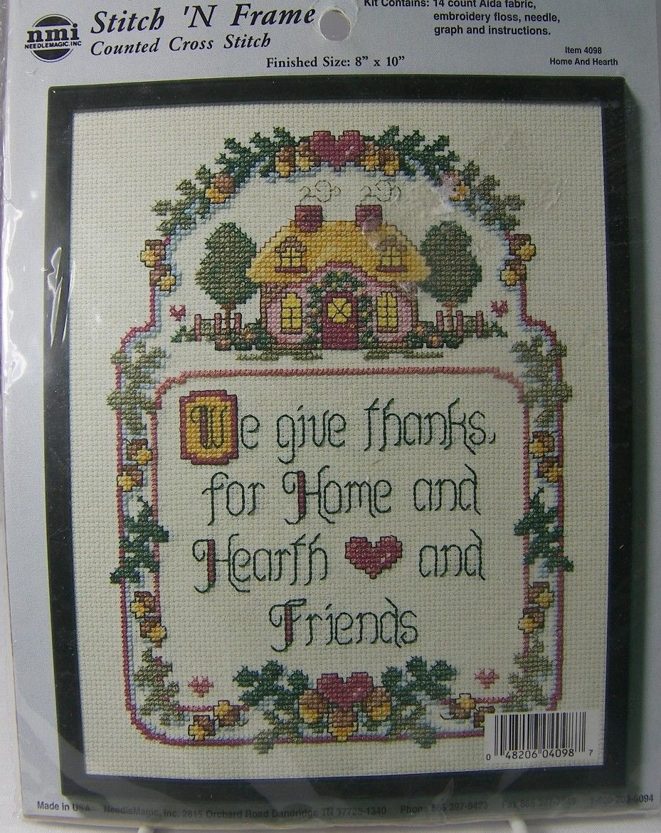 "We Give Thanks Counted Cross Stitch 4098 Hearth & Home 8 x 10"" Needle Magic"