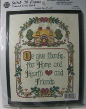 "We Give Thanks Counted Cross Stitch 4098 Hearth & Home 8 x 10"" Needle Magic - $9.50"