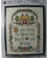 """We Give Thanks Counted Cross Stitch 4098 Hearth & Home 8 x 10"""" Needle Magic - $9.50"""