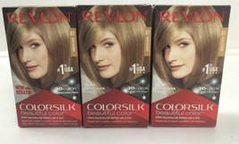 3 Revlon ColorSilk Permanent Hair Color Dye #61 Dark Blonde 3D Color Technology  - $28.71
