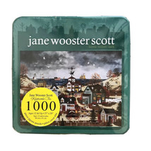 2005 Jane Wooster Scott Jigsaw Puzzle 1000 Pieces Home Before Dark Sealed Tin - $18.46