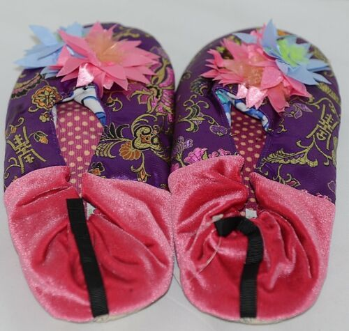 Snoozies Brand Coventry Collection Violet Pink Womens House Slippers Size XL