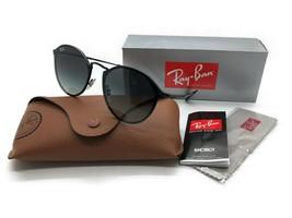 Ray Ban RB3574N 153/11 59MM Blaze Round Sunglasses Black w/ Grey Dark Gr... - $107.77