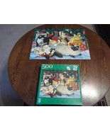"""Kitty Christmas Party 500 Piece Puzzle FX Schmid 18"""" By 24"""" Artist Linda... - $15.79"""