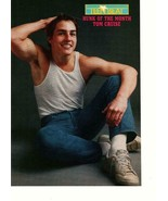 Tom Cruise Scott Grimes teen magazine pinup clipping muscles sitting down - $1.50