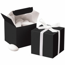 "24pk Black 2"" x 2"" Wedding Gift Box Favor Candy Bridal Shower Favor Present - $6.79"