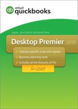 NEW! 4 user QuickBooks Desktop PREMIER 2019+Free CD. MESSAGE FOR BEST PRICE - $1,039.95