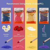 Hair Removal Waxing Kit, Wax Warmer with 4 PC Hard Wax Beans 14.1oz 20 Wax Appli image 2