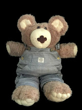 "Cabbage Patch Dudley Furskins Bear Plush Xavier Roberts 22"" Blue Overalls 83 84 - $17.81"