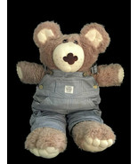 """Cabbage Patch Dudley Furskins Bear Plush Xavier Roberts 22"""" Blue Overall... - $17.81"""