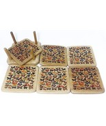 Wooden Coasters Set - Beautiful Butterflies - $7.00