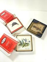 Vintage Pimpernel Tuscan Palette Riding Hat Botanica Coasters Acrylic Co... - $37.56
