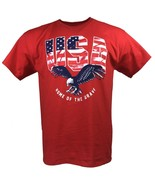HOME OF THE BRAVE USA ADULT RED T-SHIRT M L XL 2XL PATRIOTIC OLYMPICS FR... - $9.99