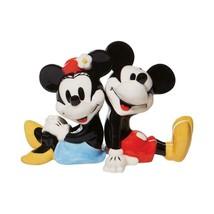 Mickey & Minnie Sitting Design Salt & Pepper Shakers Set