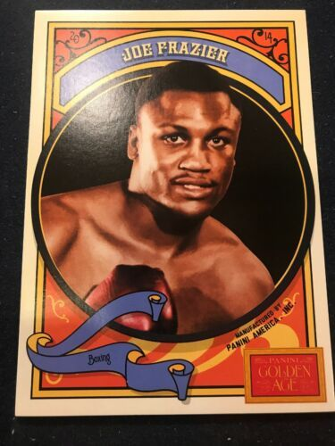 Primary image for 2014 Panini Golden Age 5x7 Box Toppers #12 Joe Frazier - Boxing P2
