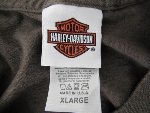 Harley Davidson T Shirt Mens Extra Large XL Brown Fond Du Lac Wisconsin image 6
