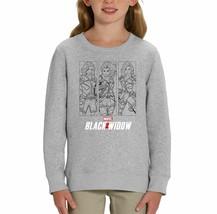 Marvel Studios Black Widow Character Triple Print Children's Unisex Grey... - $24.08