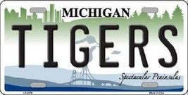 """MLB Detroit Tigers License Plate Team  State Background Metal Tag """"U.S.A.""""  - $10.84"""