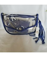 Charming Charlie Clear Transparent Stadium Crossover Purse Bag + Wallet ID  - $33.11