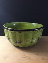 """Vintage 50s Tlaquepaque Mexican Pottery 9 1/2"""" Salad Bowl image 2"""