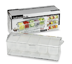 Clear Ice Bottom Condiment Container Food Stora... - $40.97
