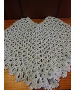 Toddler Blue Crochet Lace Designed Spring Summer Cape Poncho Size 18-24 mo - $14.00