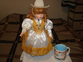 Cute Collectible Country Western Doll With Collectible Nashville Coffee ... - $68.59