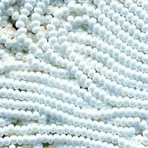 11/0 Seed Bead Rocaille Full Hank White 7 - $7.99