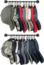NEW Hat Rack for Wall Baseball Cap Organizer Hanger with 20 Hooks Modern... - $32.06