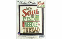 My Soul is Fed With Needle & Thread Counted Cross Stitch Kit New Design Works - $20.26