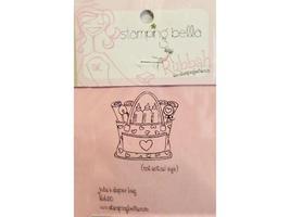 Stamping Bella Julia's Diaper Bag Unmounted Rubber Stamp #KBB20