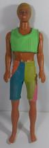 Vintage Barbie Ken Doll 12in Mattel 1989 Wet N Wild Beach Pool Swimwear Blonde - $9.99