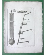 HOROLOGY Pendulum & Detents of Horizontal Clock - 1783 Original Print - $7.64
