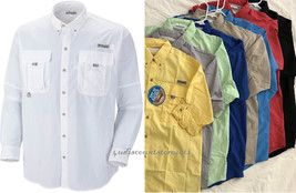 New Columbia Men Bahama Long Sleeve Shirts, XS-S-M-L-XL-XXL - $38.90
