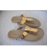 Bandolino Gold accent Flip Flop Sandal 6 M - $24.74