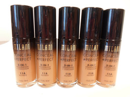 5pk LOT MILANI Conceal + Perfect 2-In-1 Foundation + Concealer 11A Nutme... - $45.00